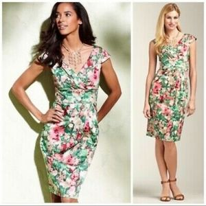 Talbots Floral Dress with Bow, Size 10